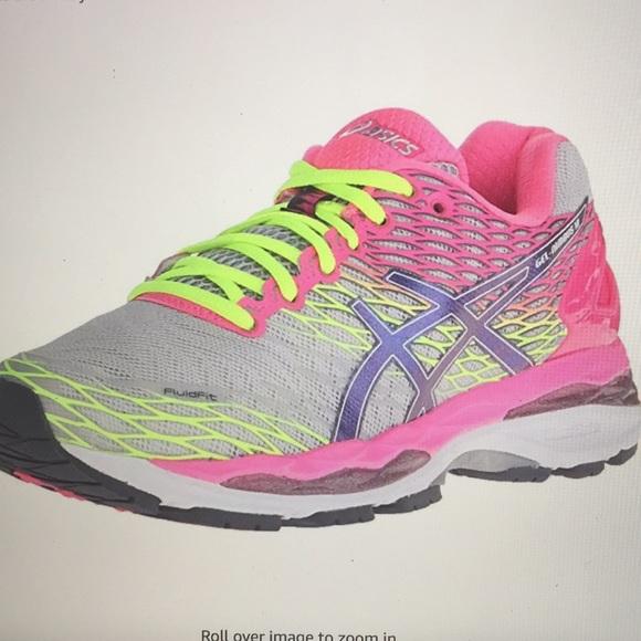 1b78a6eb2a64 Asics Shoes - ASICS Womens Gel Nimbus 18 Pink and Yellow Sz 8